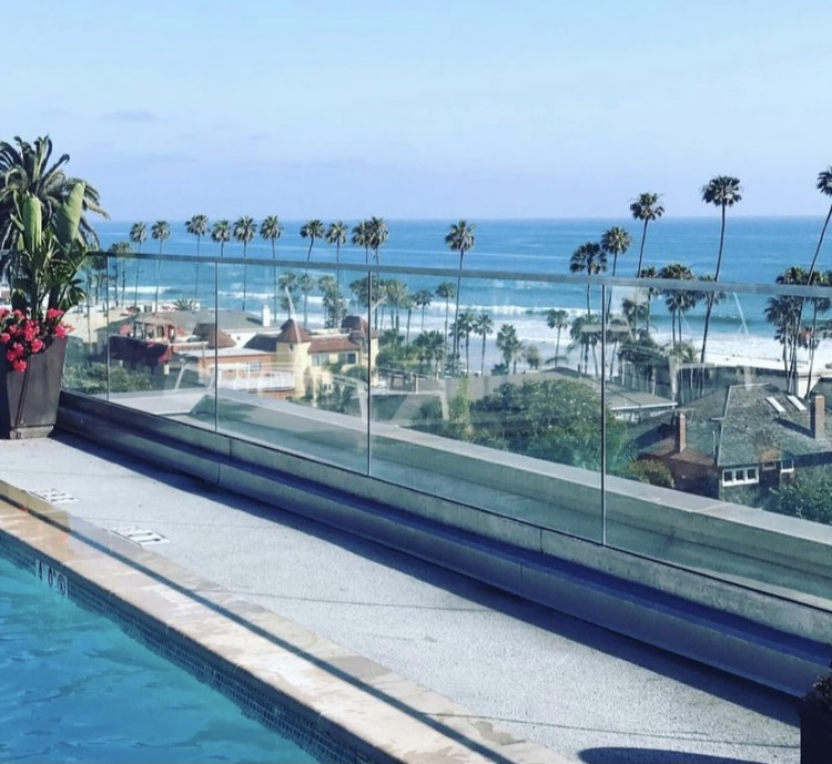 Oceanview Yoga Class on the Rooftop Pool Deck