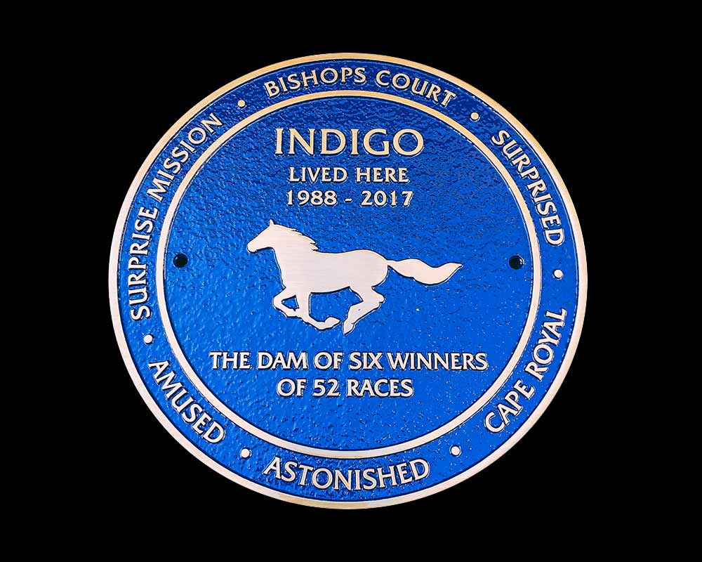 "250MM X 300MM (10"" X 12"") ALUMINIUM BLUE PLAQUE"