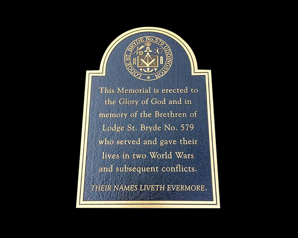 "600MM X 300MM (24"" X 12"") BRONZE BLACK BACKGROUND - LAWN CEMETERY PLAQUE"