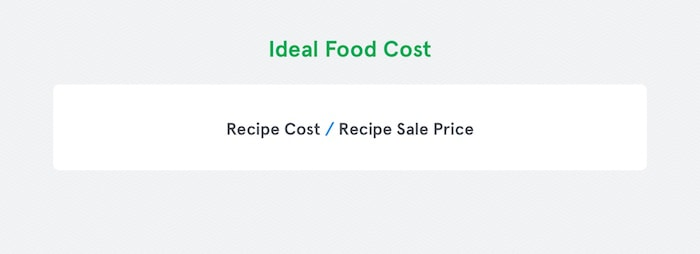 How to calculate food cost in a restaurant the ultimate guide ideal food cost recipe cost recipe sale price forumfinder Images