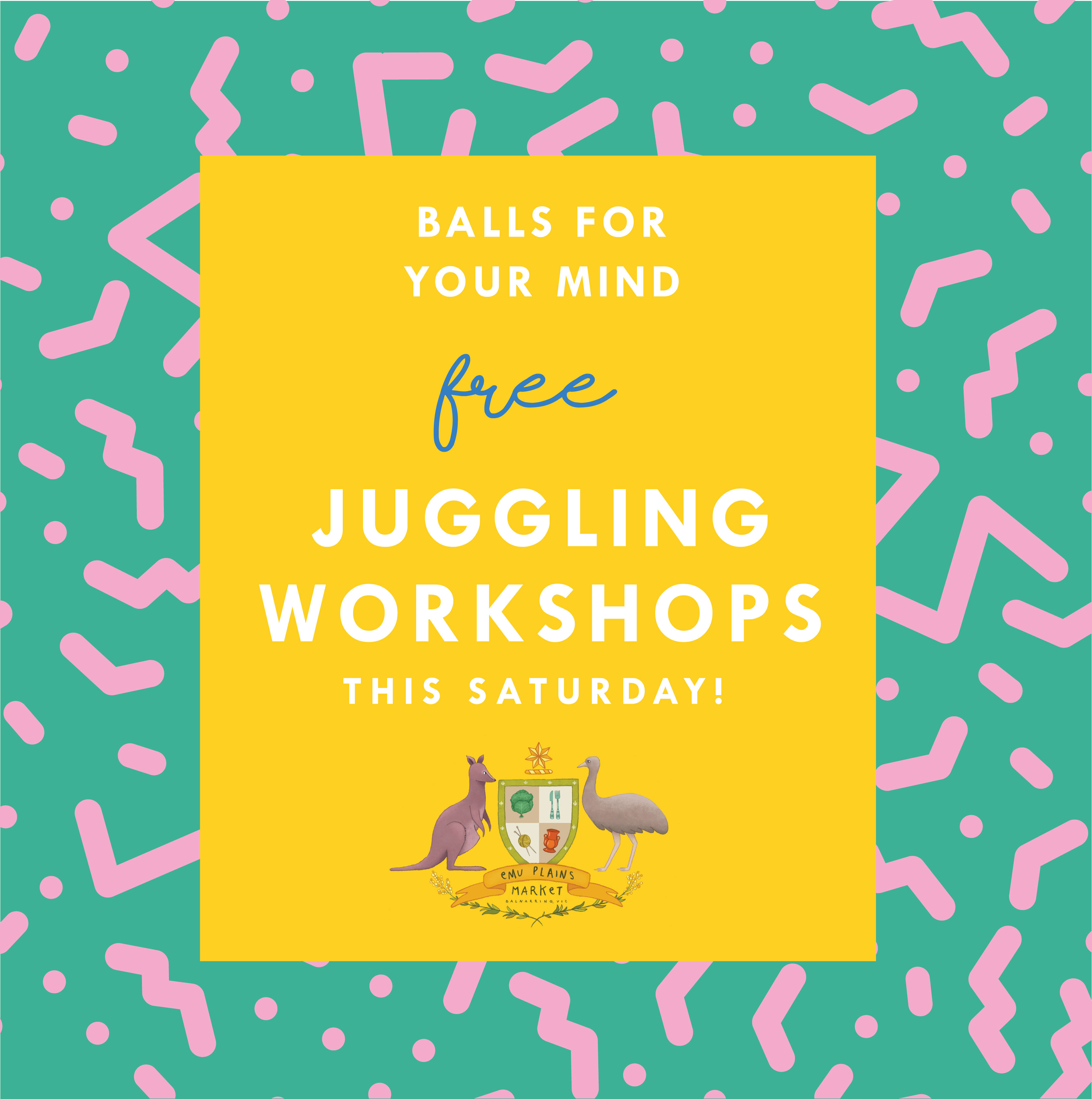 workshop: juggling@The EPM This Saturday