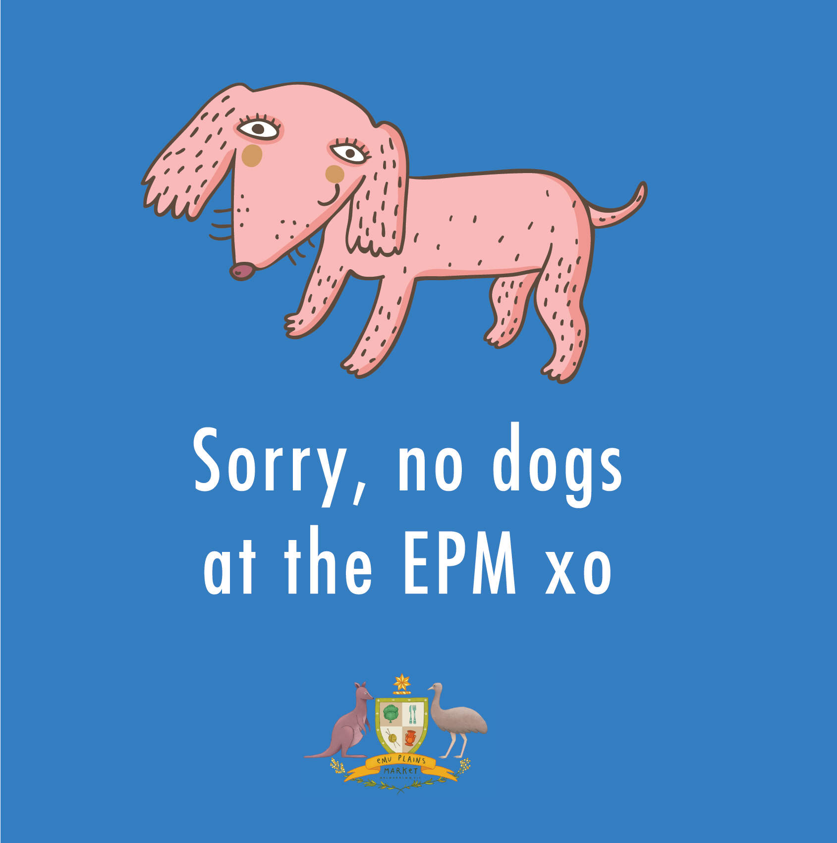 Sorry, no four legged friends at the Emu Plains Reserve :(