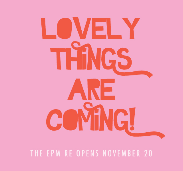 Lovely things are coming....