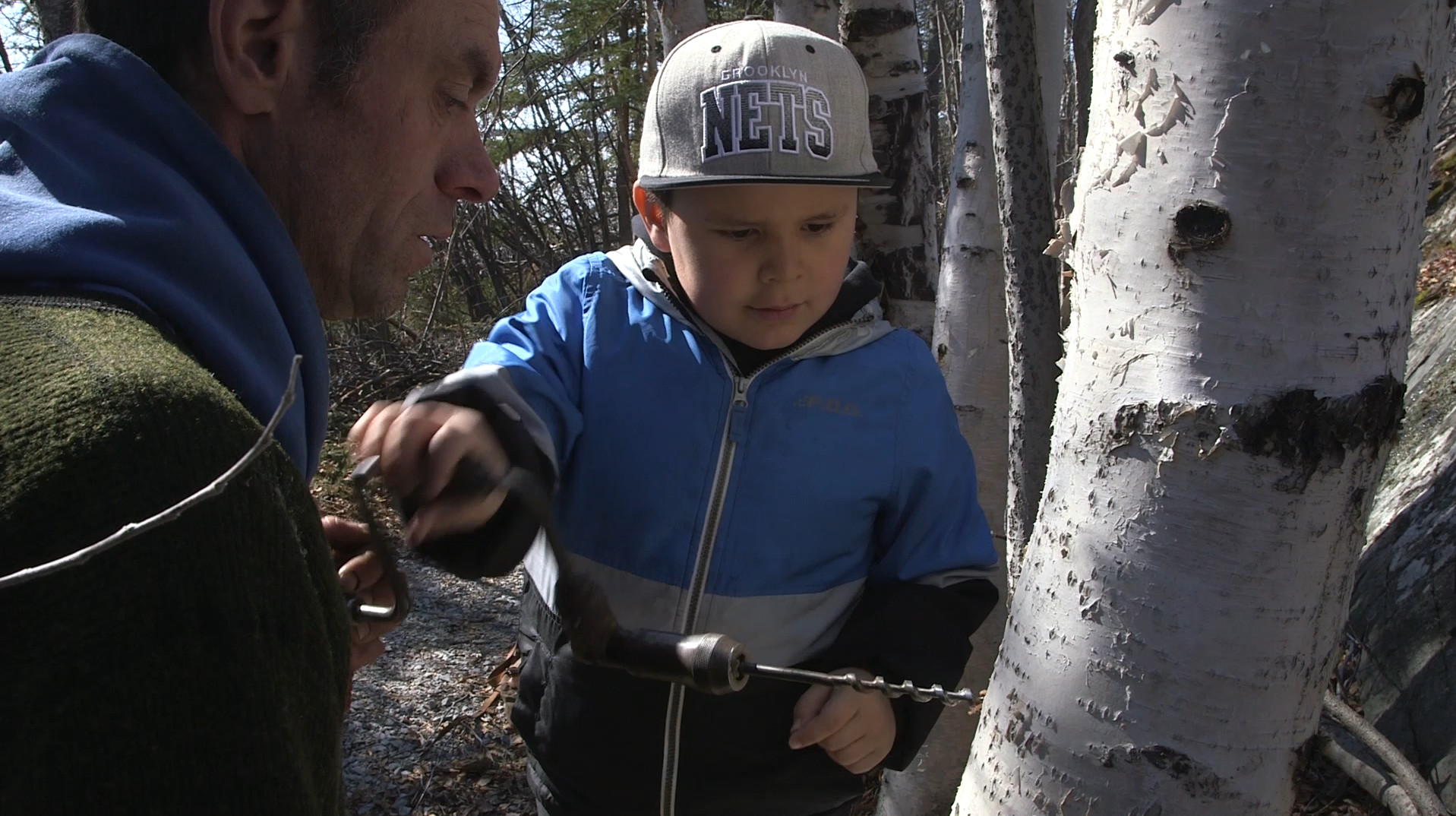 Still from short film, Birch Song.