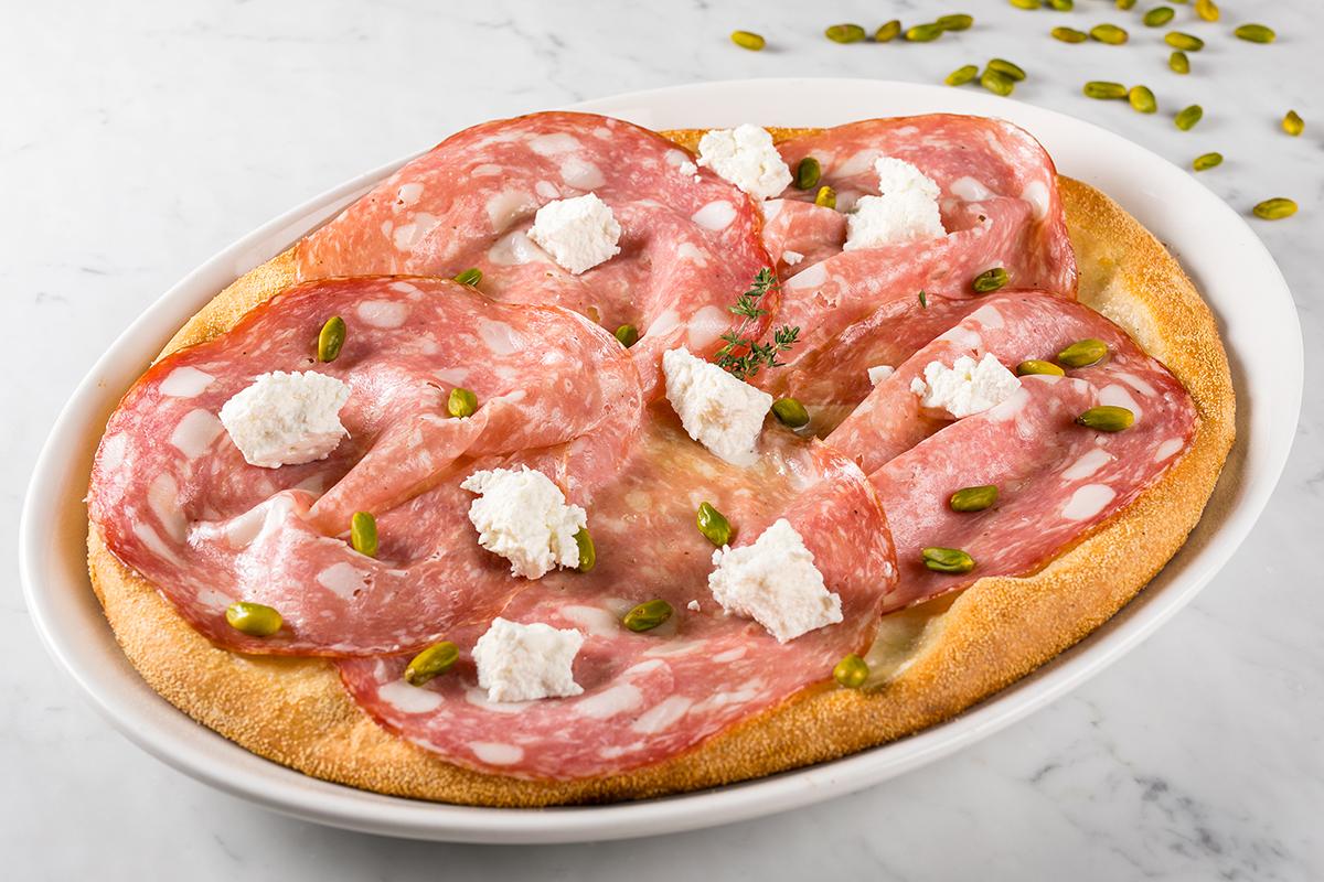 Pizza con Pistacchio Verde di Bronte DOP