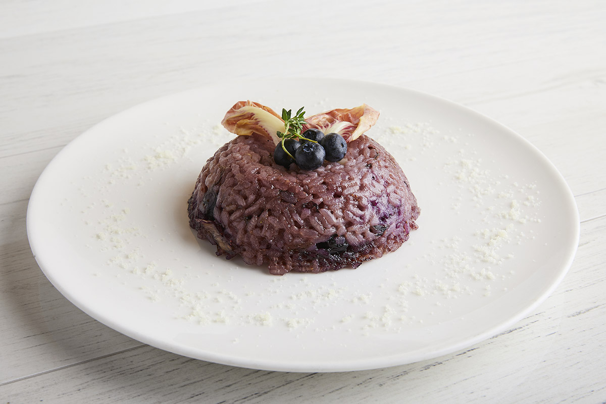 Rice Tortino with Late-Growing Red Trevisano Radicchio and Smoked Burrata