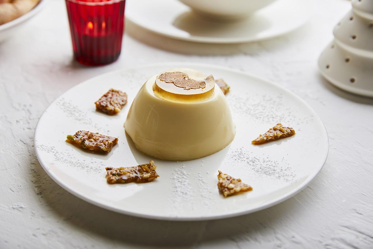 Panna Cotta with White Truffle from San Miniato