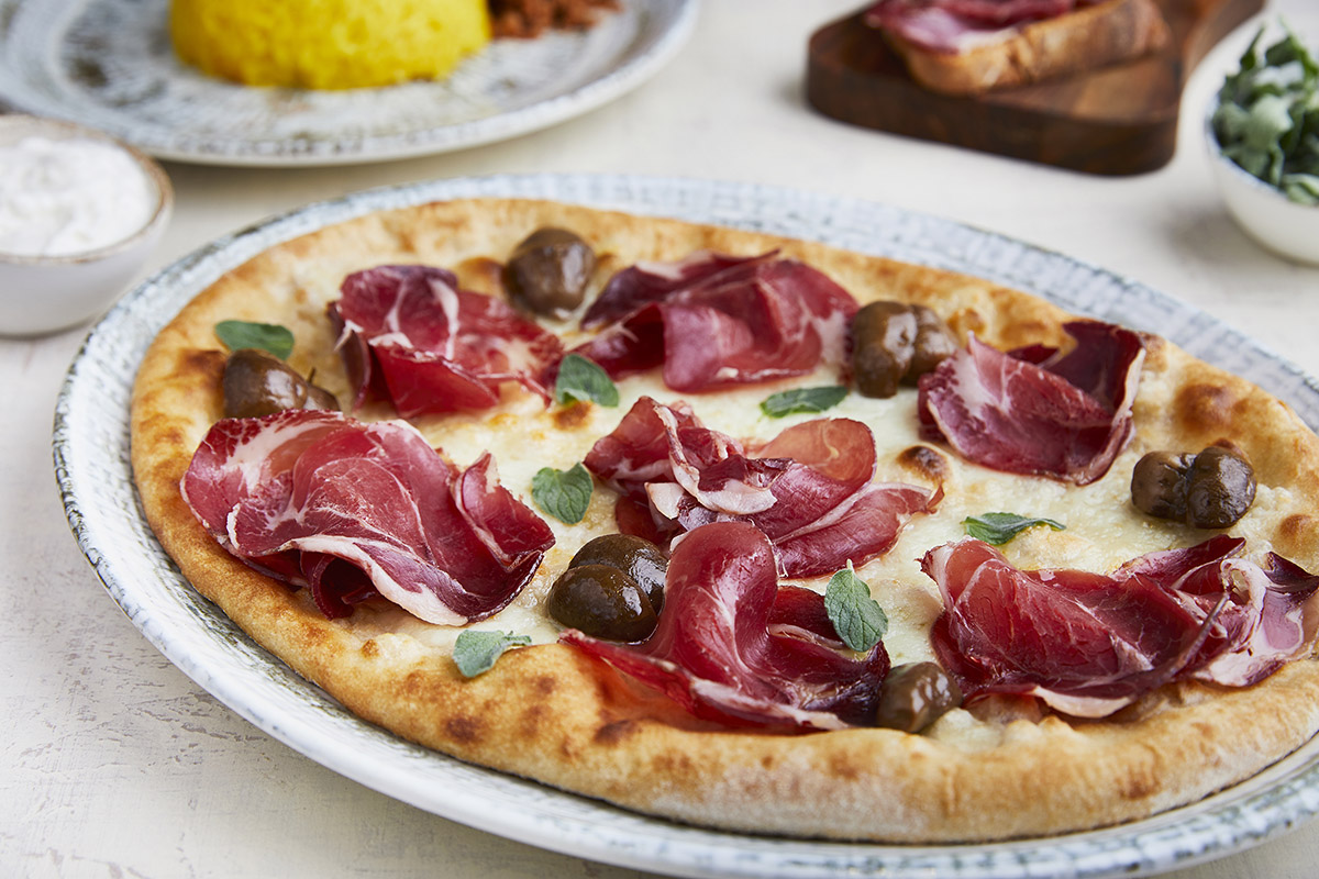 Pizza with Wild Boar Ham