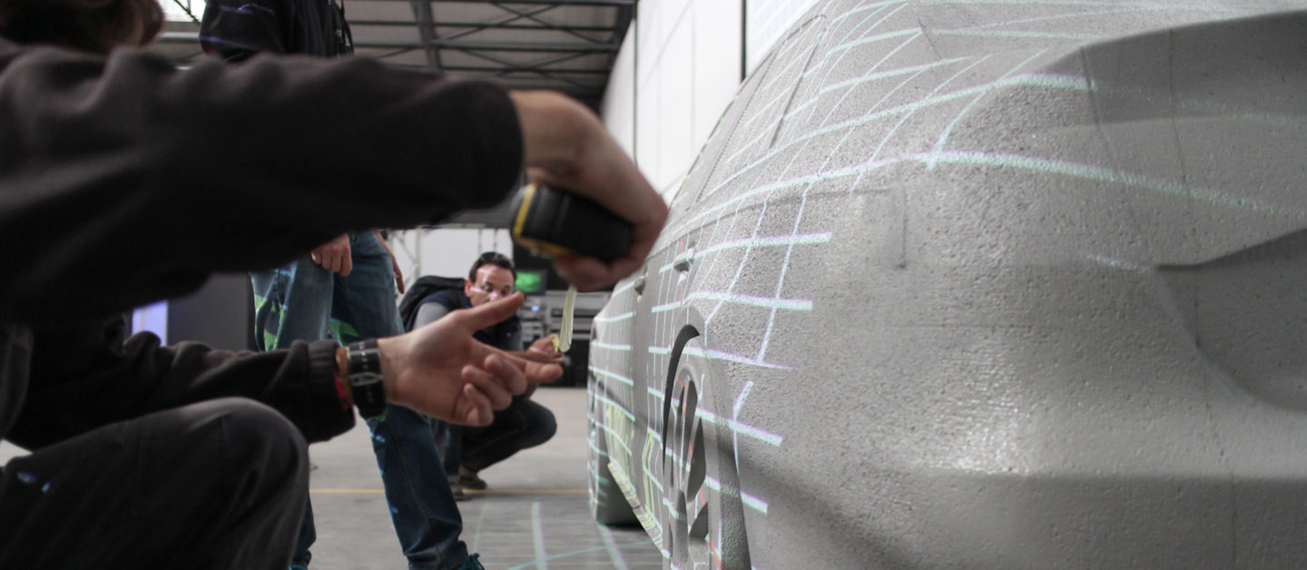 Car Projection  Mapping Montage