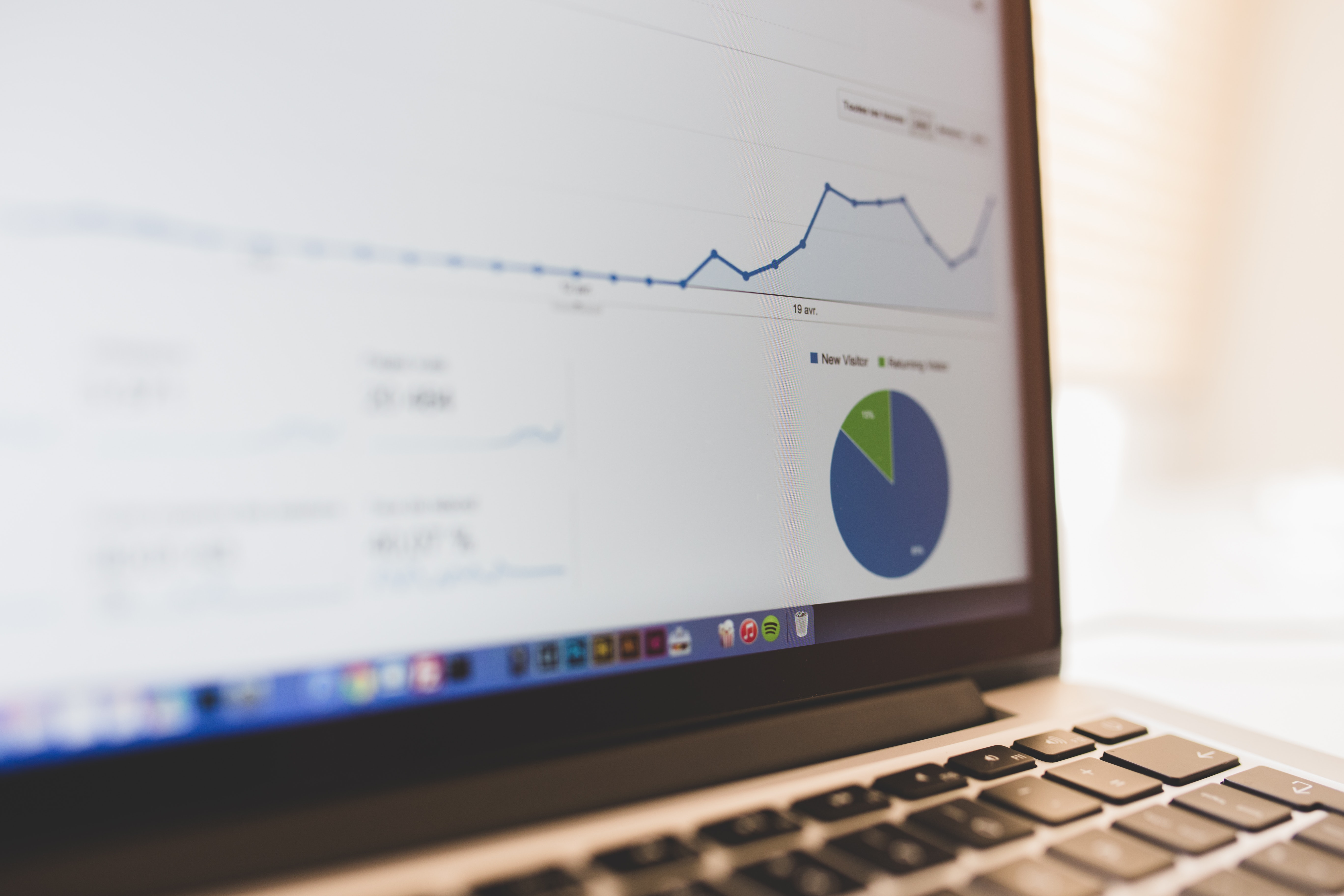 laptop, google analytics, data