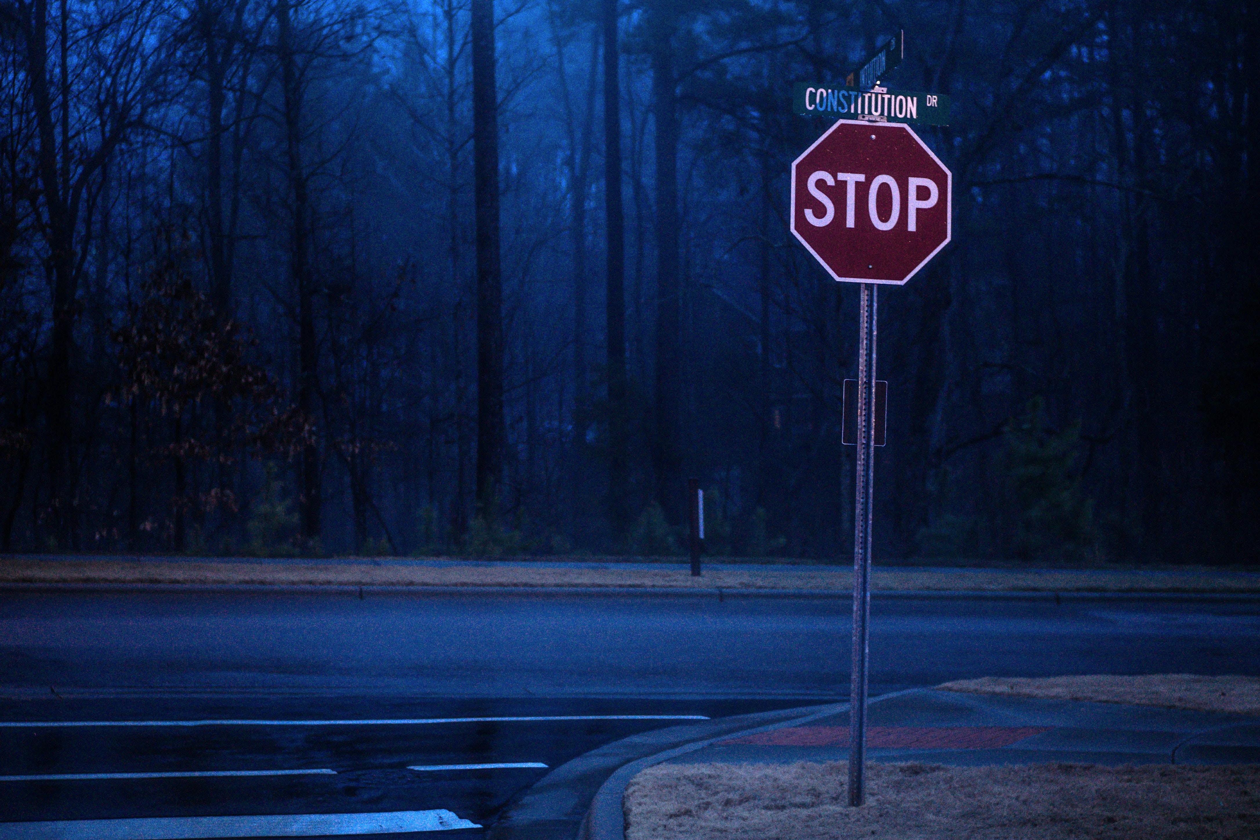stop, road, change,