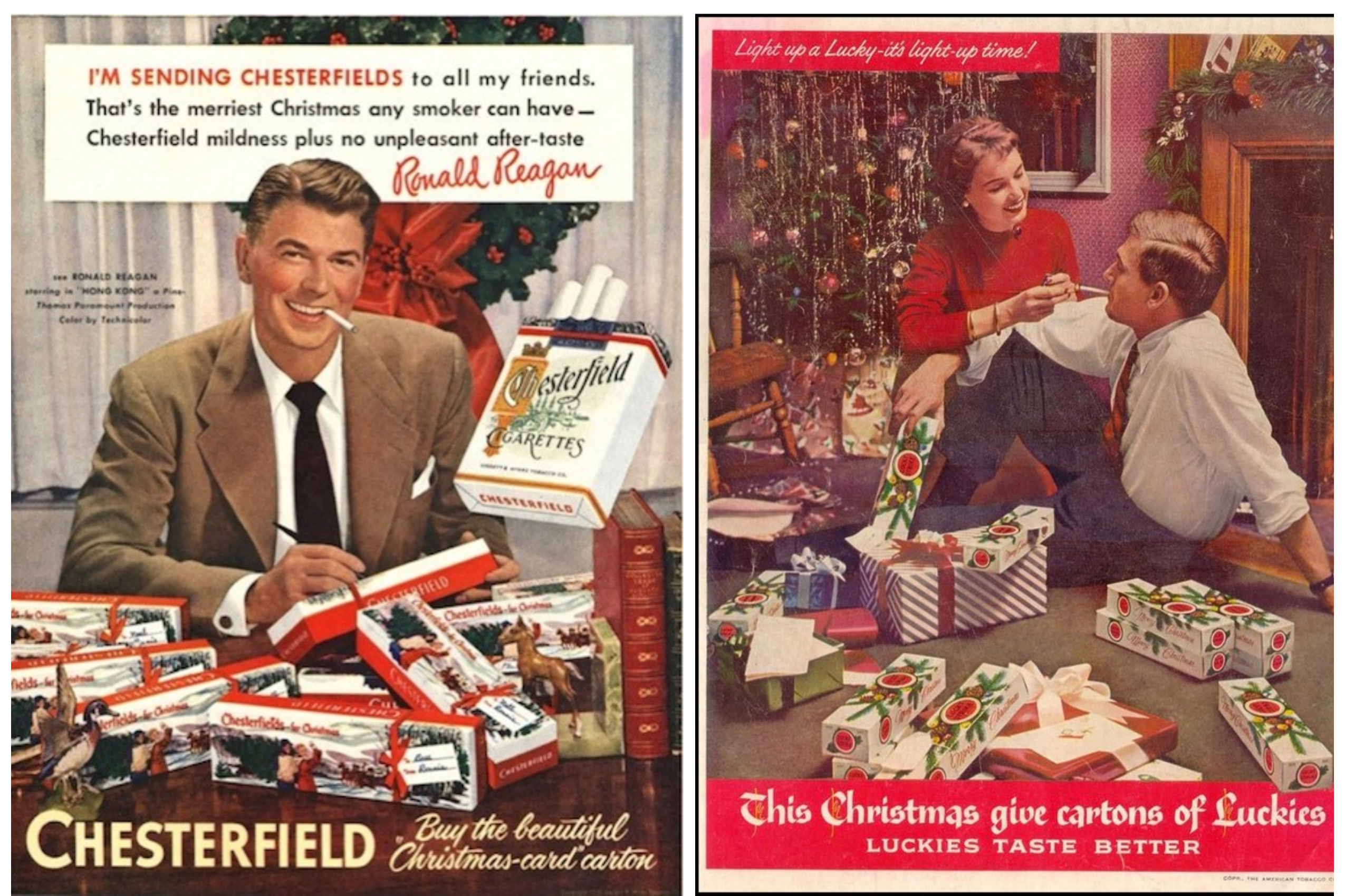 Christmas cigarrette adverts