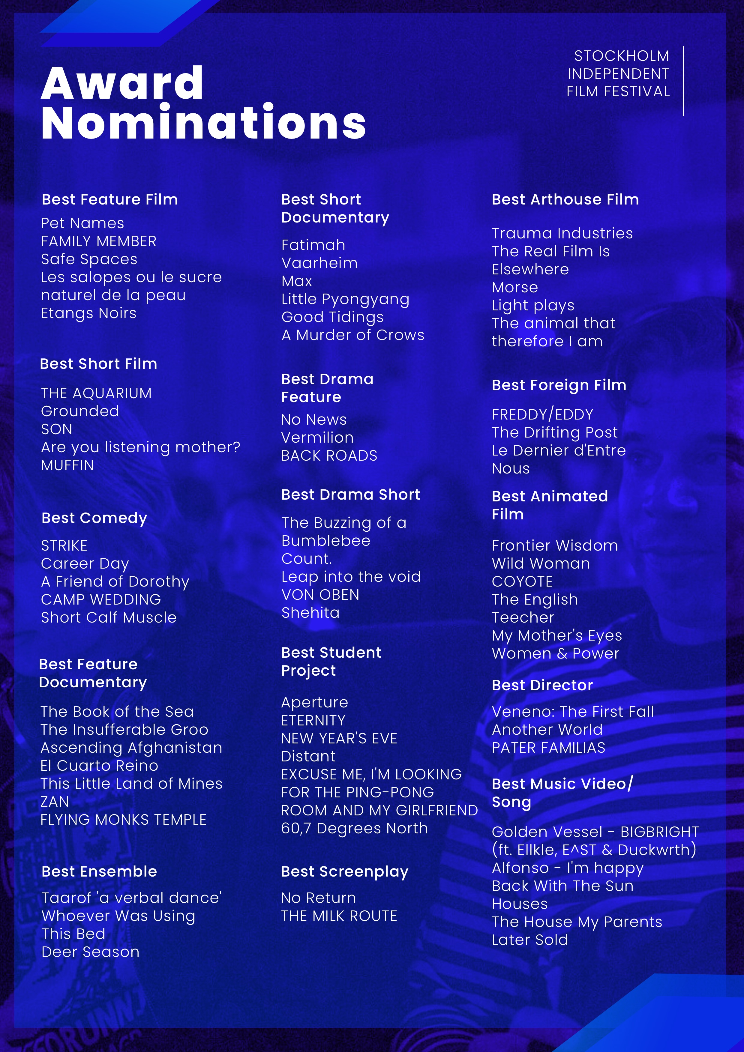 SIFF2019 Nominations