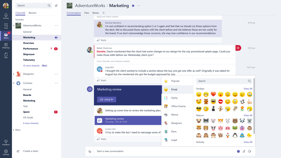 Marketing with Microsoft Teams