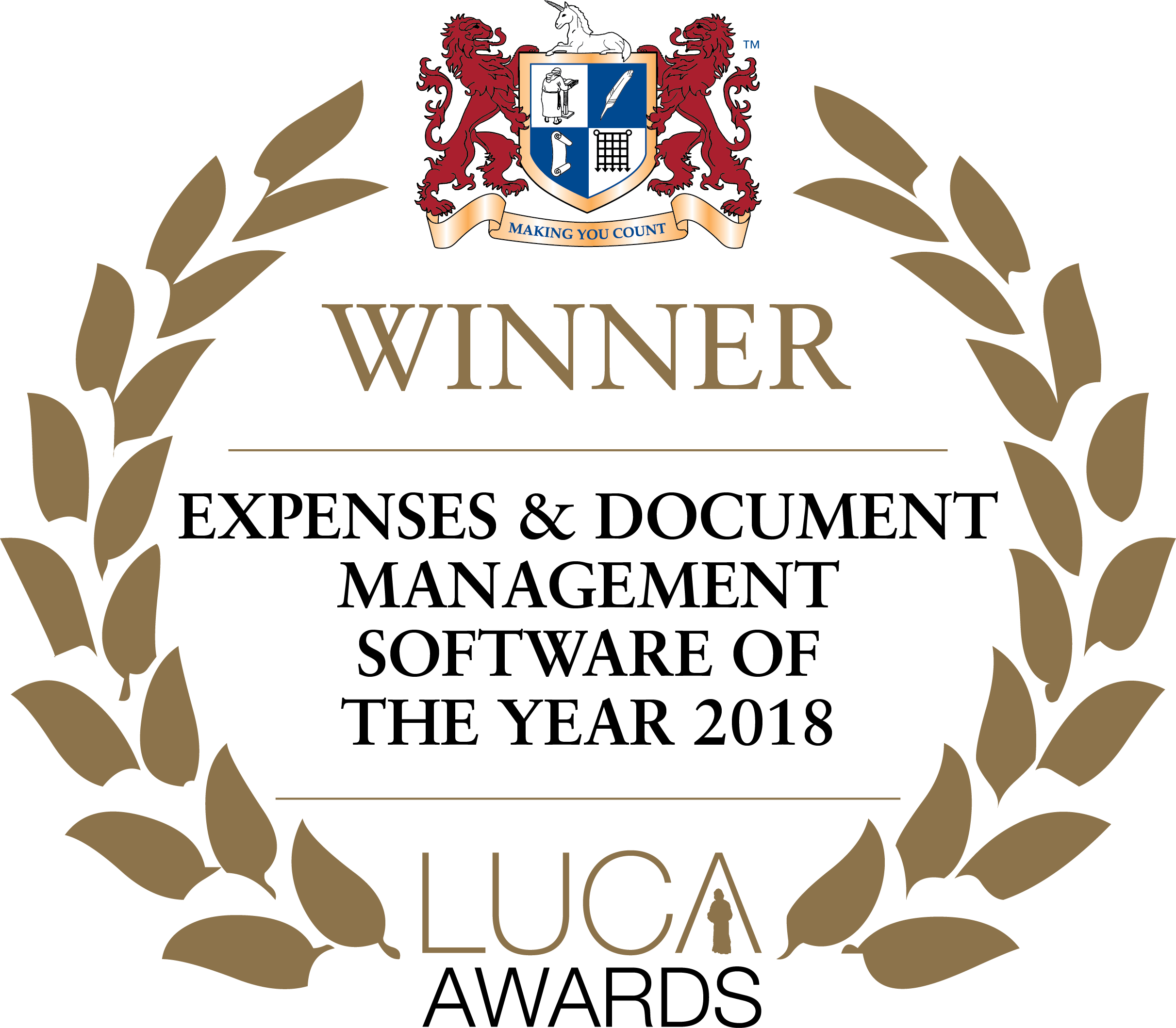 Winner Expenses and Document Management Software of the Year 2018 LUCA Awards