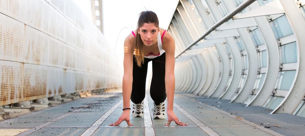 girl in sprint pose