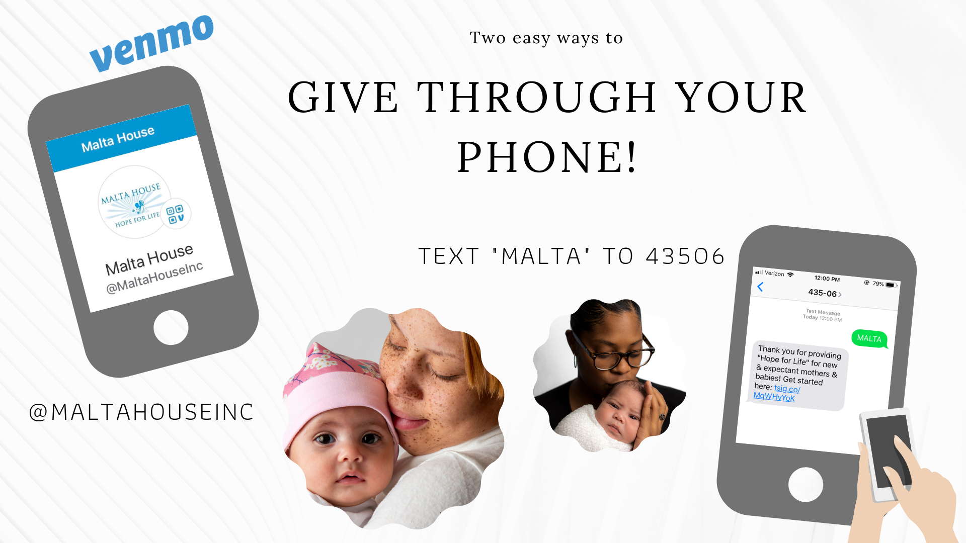 Two new mobile ways to give to Malta House