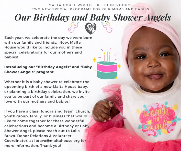 """Introducing our """"Birthday and Baby Shower Angels"""" program!"""