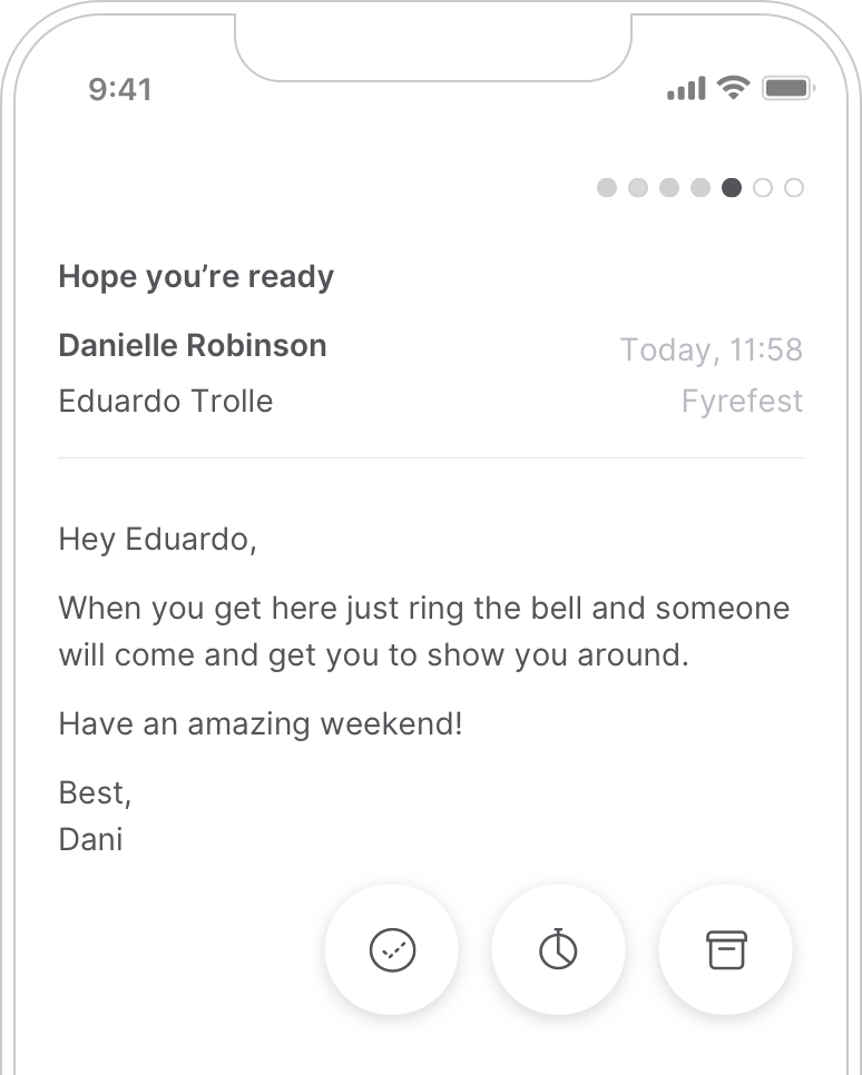 A minimalist mobile email app is coming soon and it will look as clean and crisp as the desktop one