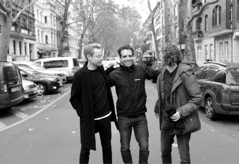 Tempo founders photograph, with Sebastian Stockmarr, Henrique Ferreira & Onno Schwanen