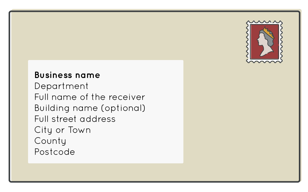 business envelope format example