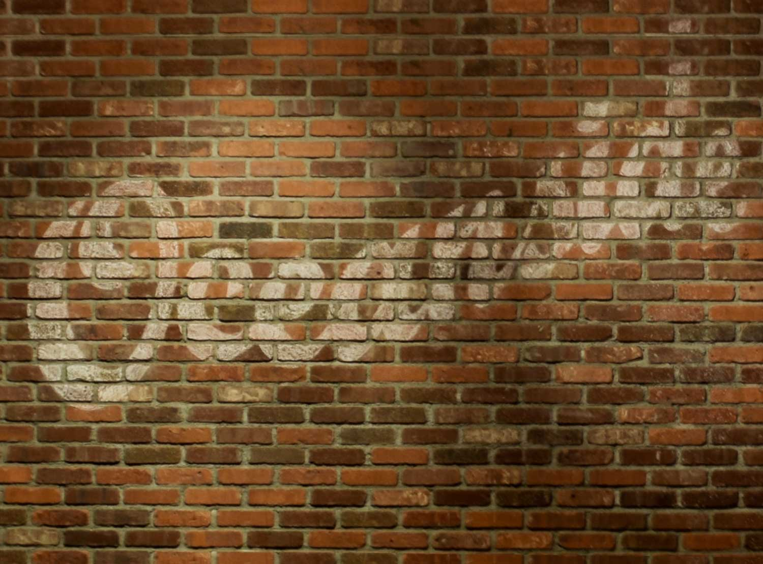"""The word """"Occeanside"""" painted on a brick wall at Maxdon's Pub."""
