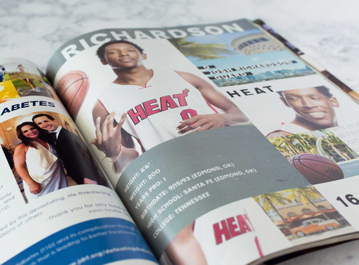 A player spread in the 2016-17 Miami Heat Yearbook.