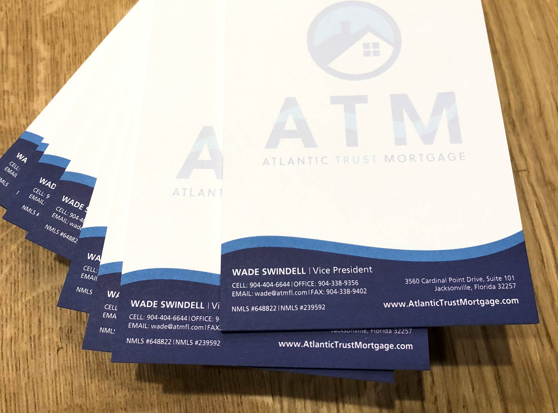 Atlantic Trust Mortgage sticky pad display at the launch party in Jacksonville, FL.