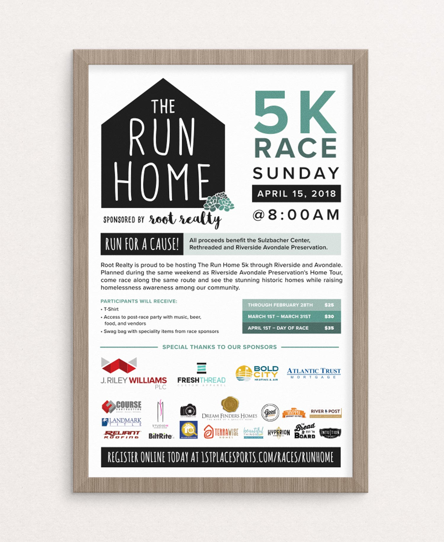 The Run Home 5K in Jacksonville, Florida poster.