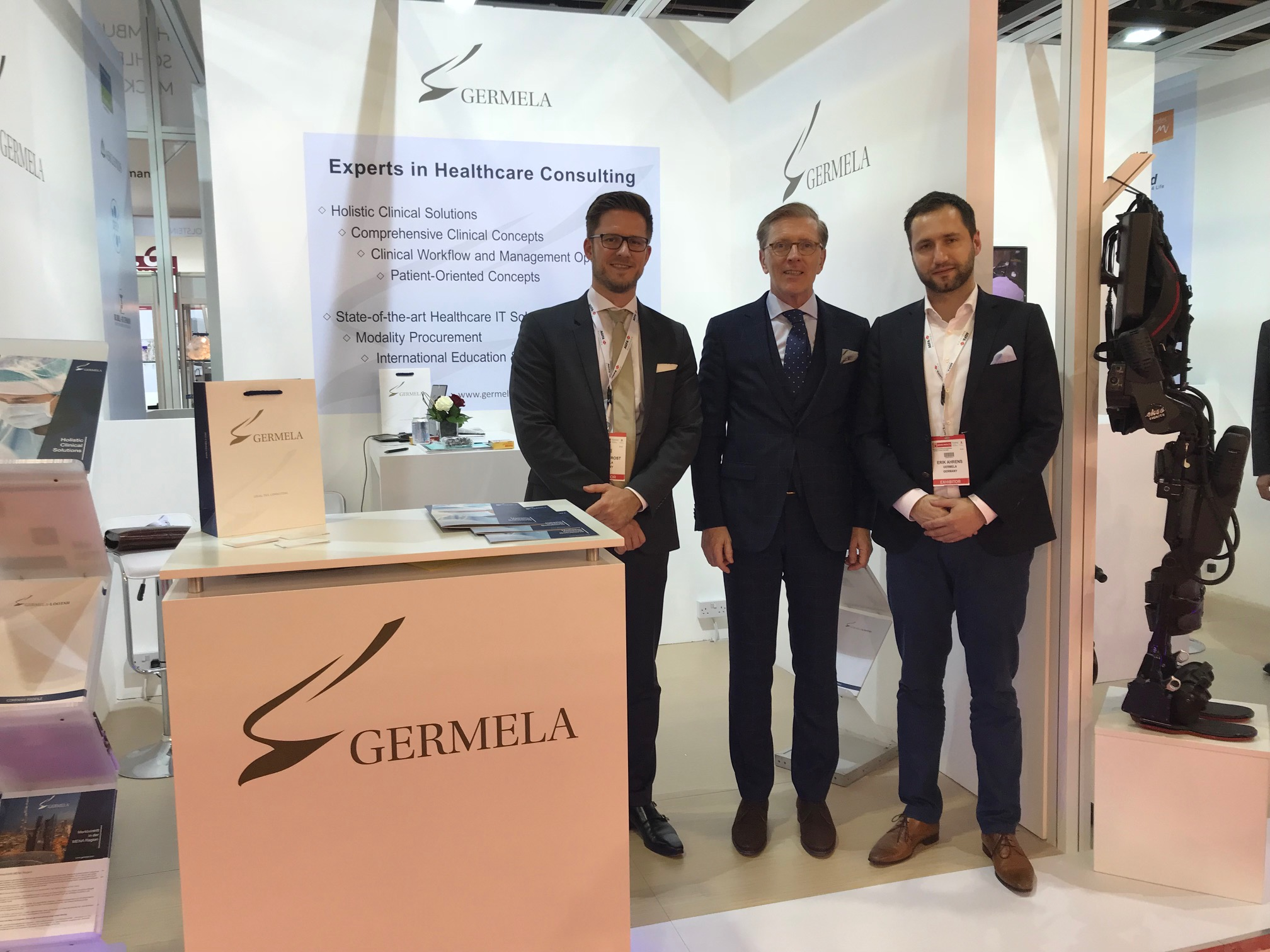 GERMELA healthcare consulting experts at Arab Health 2018