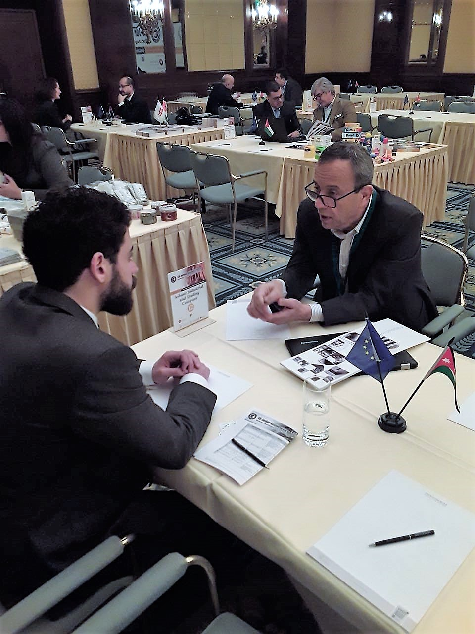 GERMELA consulting expert talking with Jordan business representative