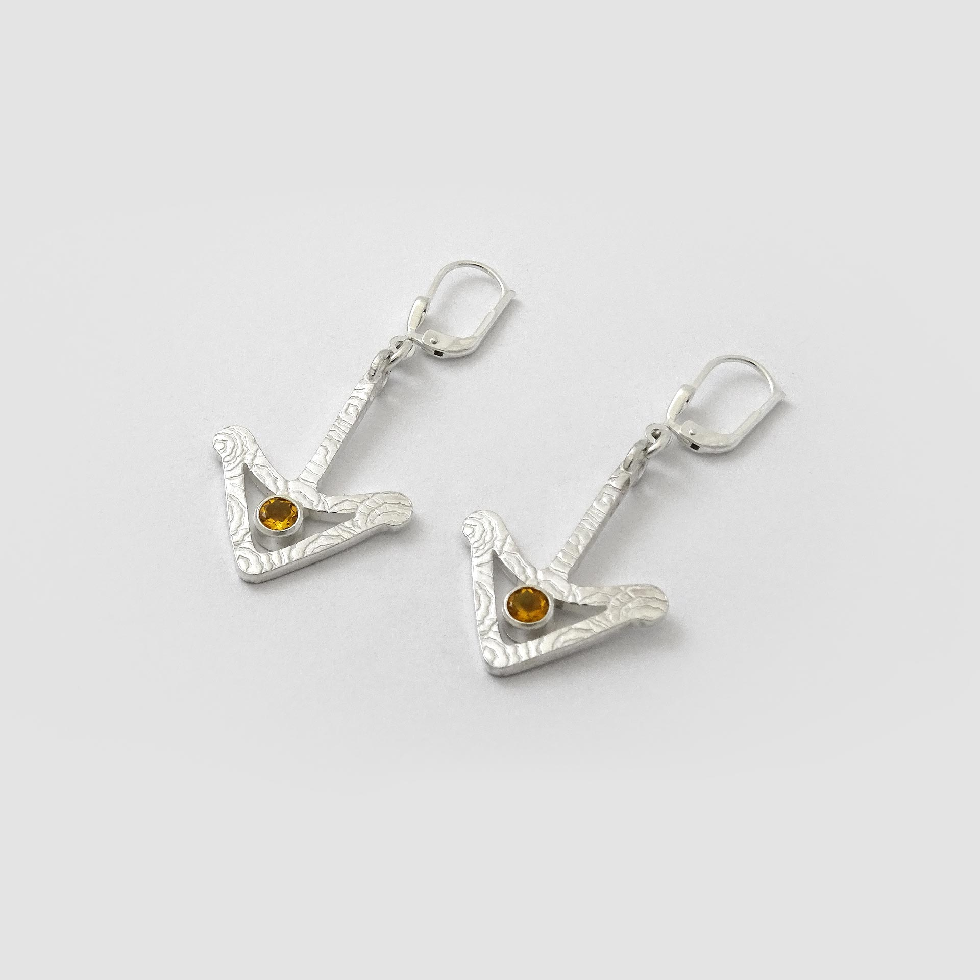 Gold Citrine Earrings NU Goldsmith