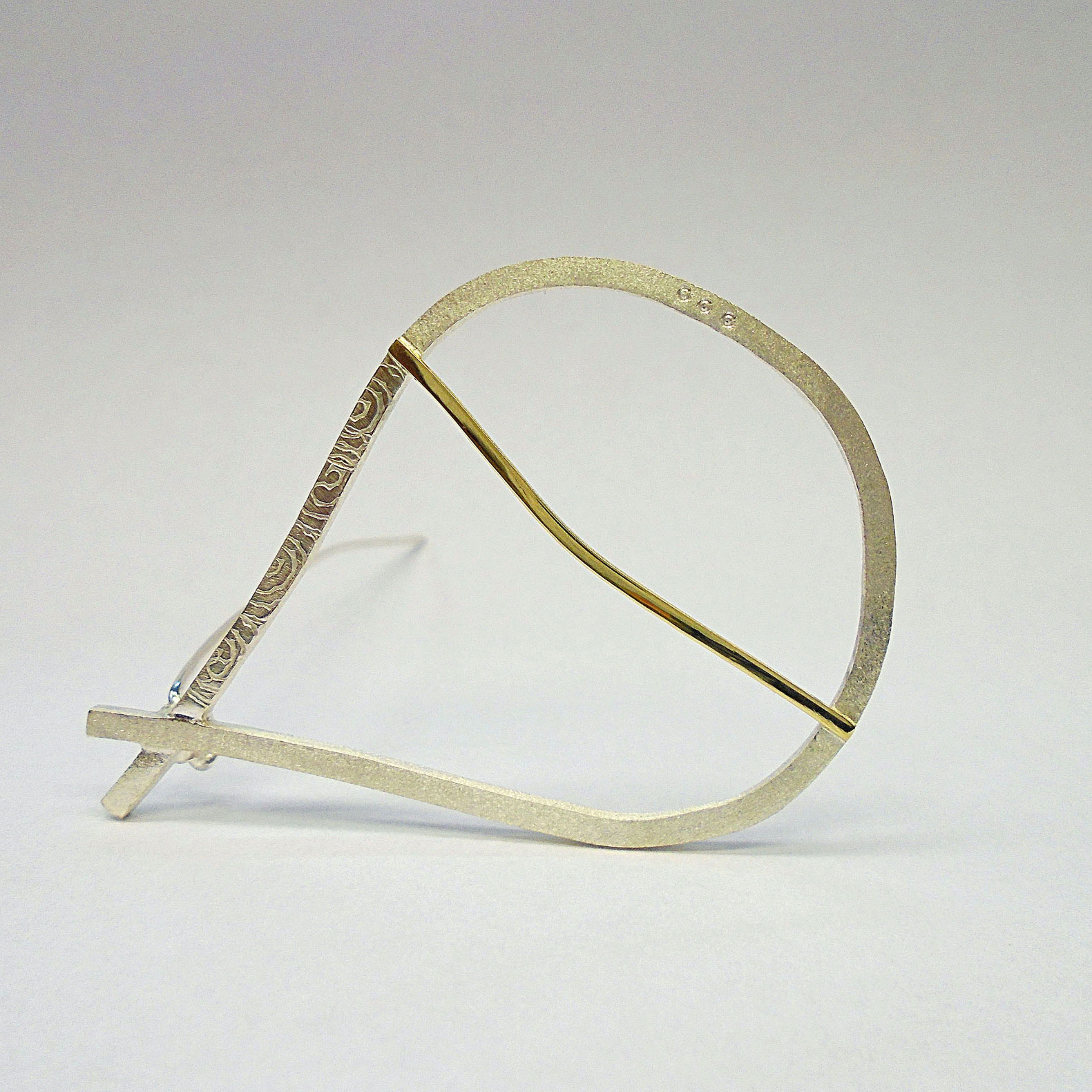 Across the Line 3 Brooch