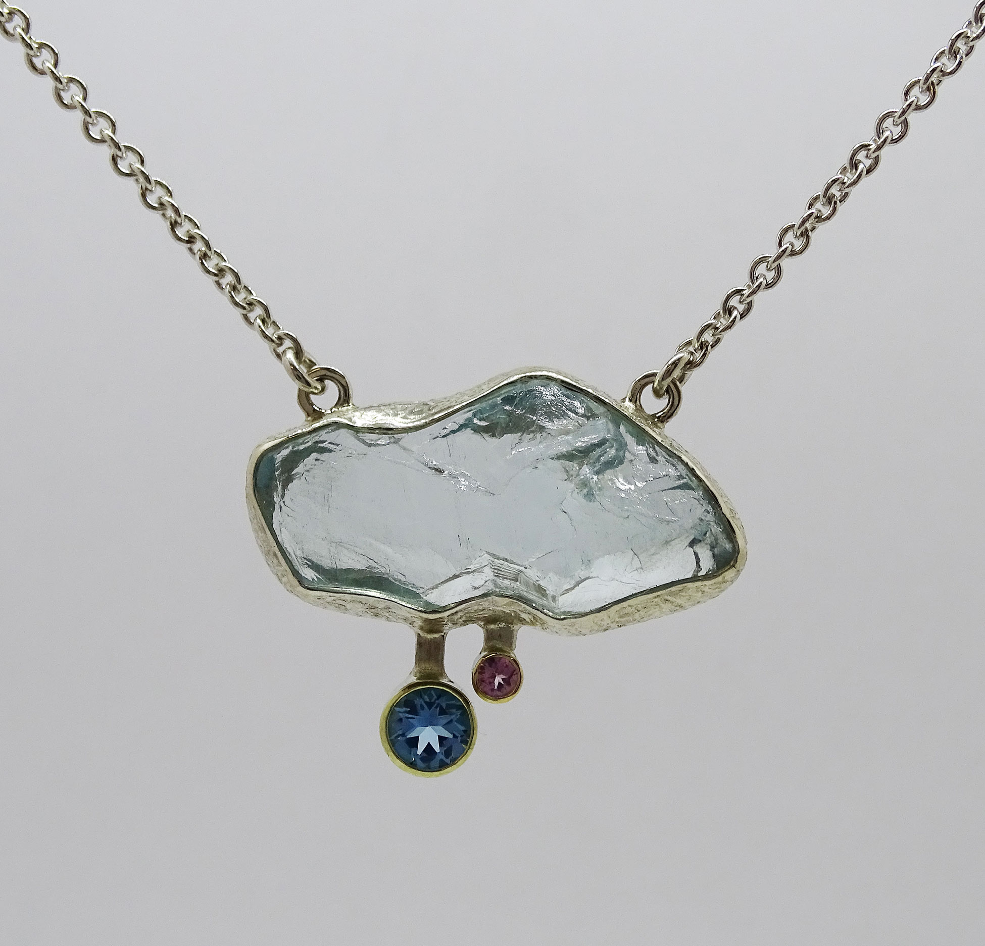 Aquamarine & Diamond Pendant NU Goldsmith