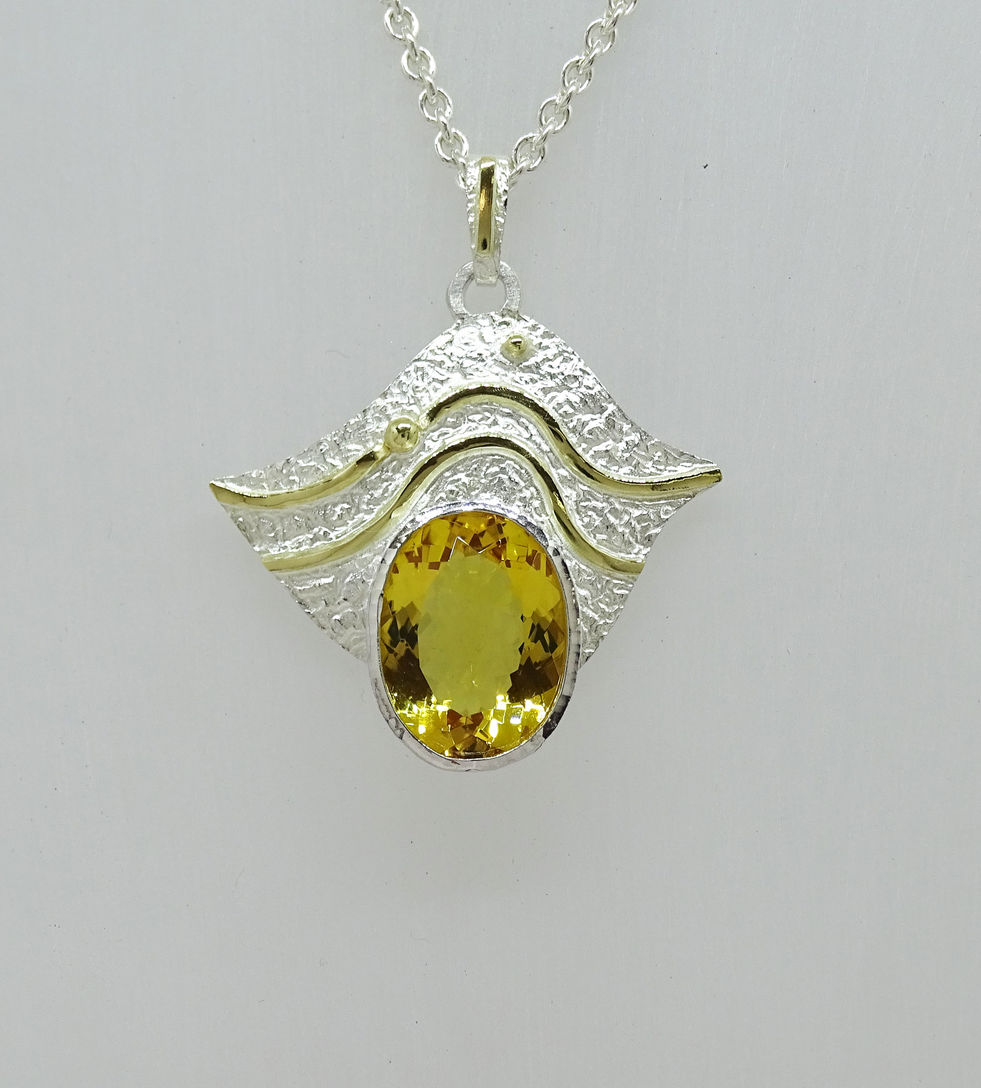 34ct Imperial Topaz Pendant NU Goldsmith