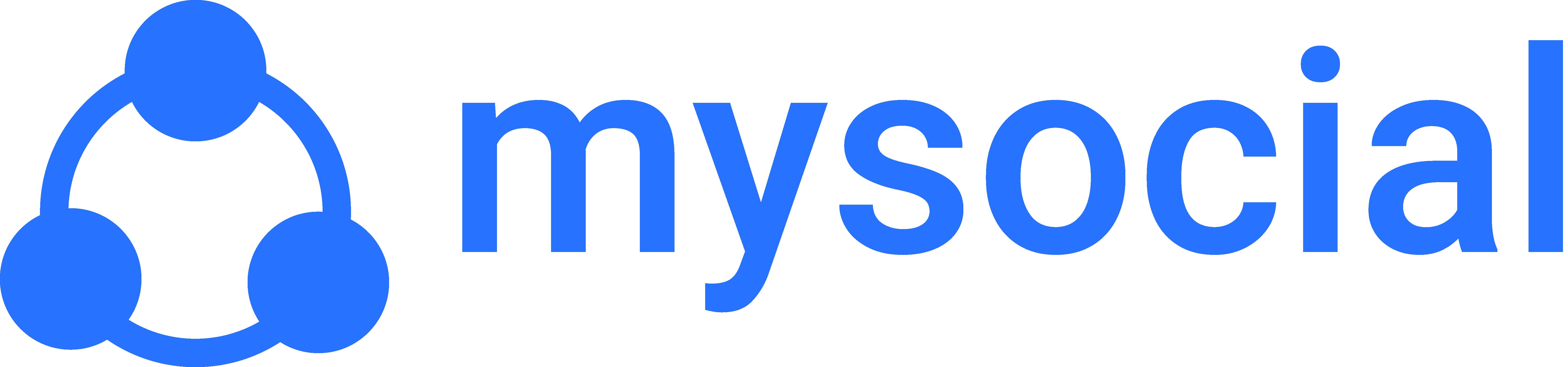 Mysocial Logo White
