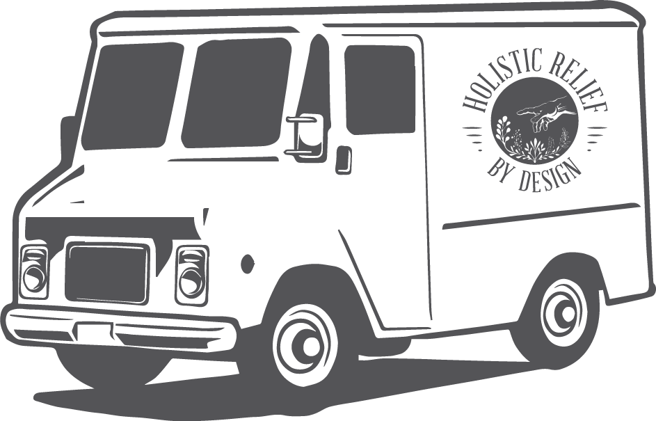 holistic relief by design delivery van