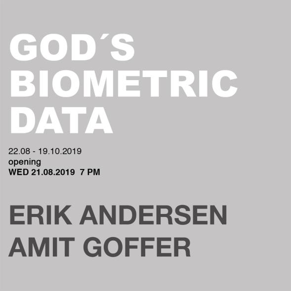 invitation card, god's biometric data, erik andersen, amit goffer, diskurs berlin