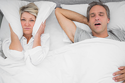 Strained relationship due to snoring.
