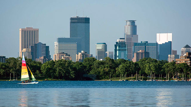 View of Minneapolis from Lake Calhoun