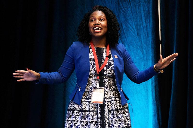 Malaika Carpenter speaking at Confab