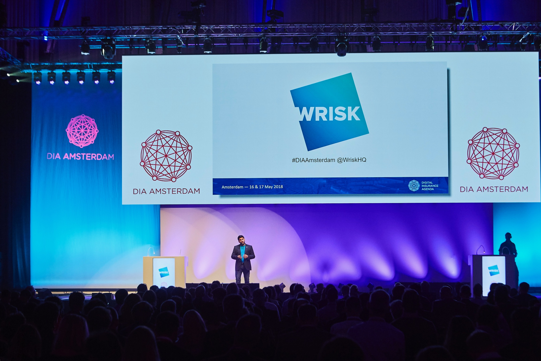 Wrisk Co-Founder presenting at the DIA conference in Amsterdam