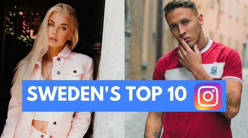 Top 10 trending Swedish Instagram accounts right now