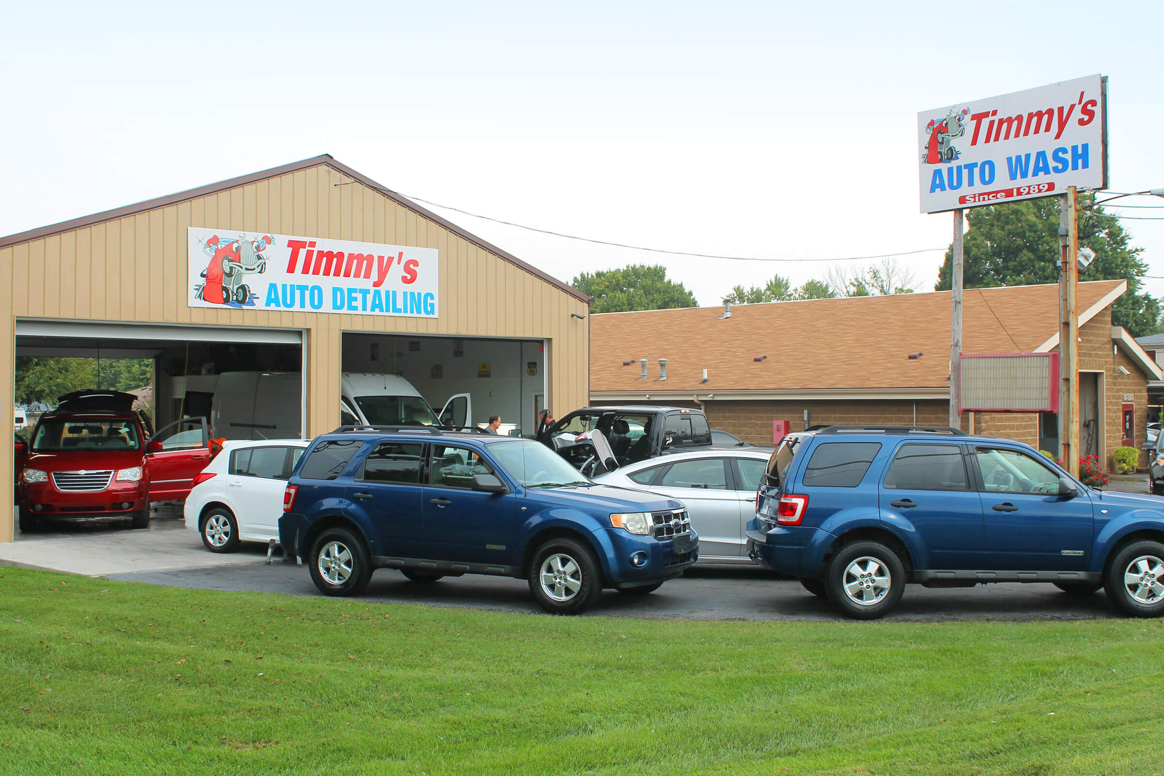 Timmys auto wash nobody takes care of our neighbors like we do heck we will even clean the cheerios out of the back of your minivan when that time comes solutioingenieria Image collections
