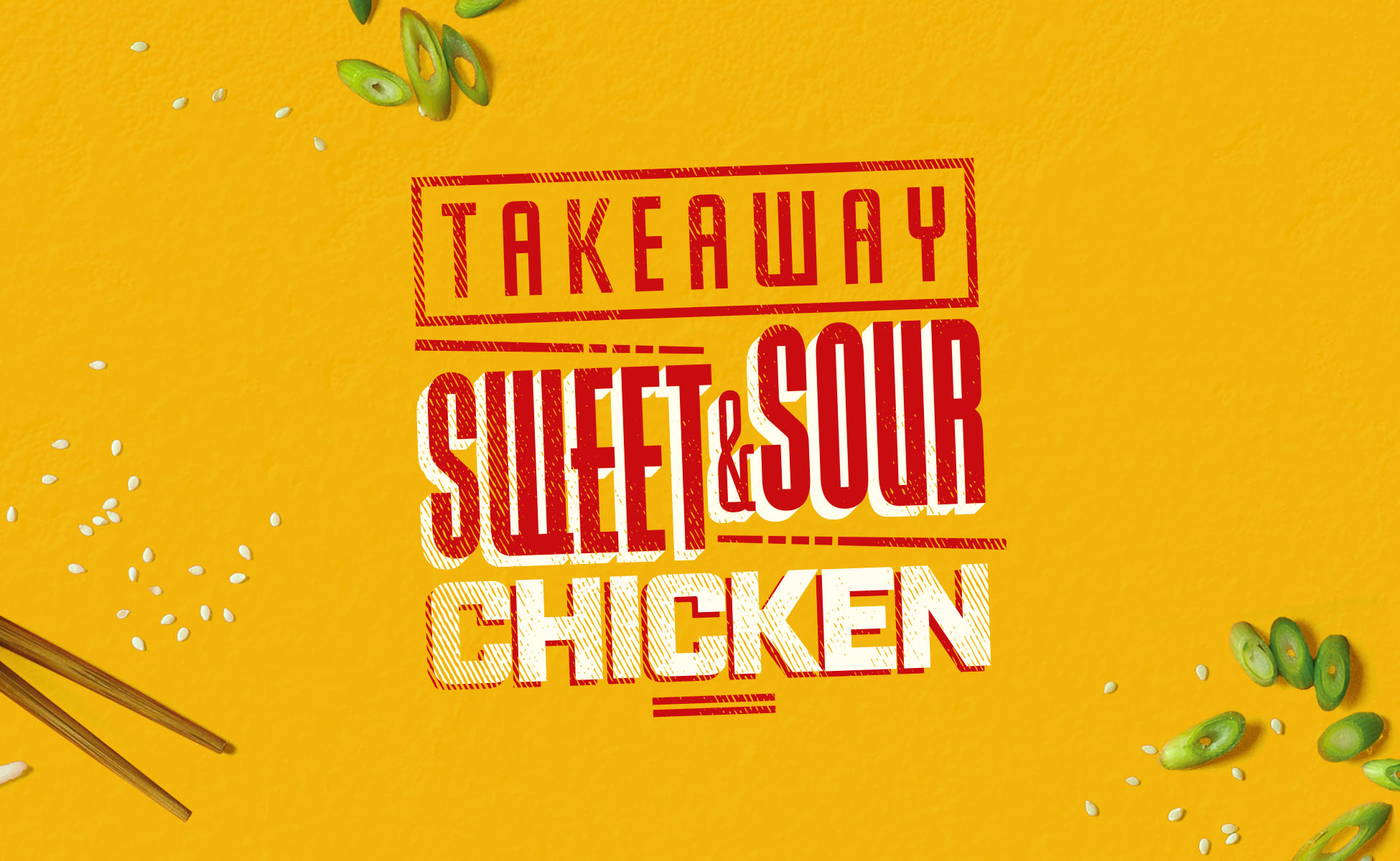 Creative takeaway typography