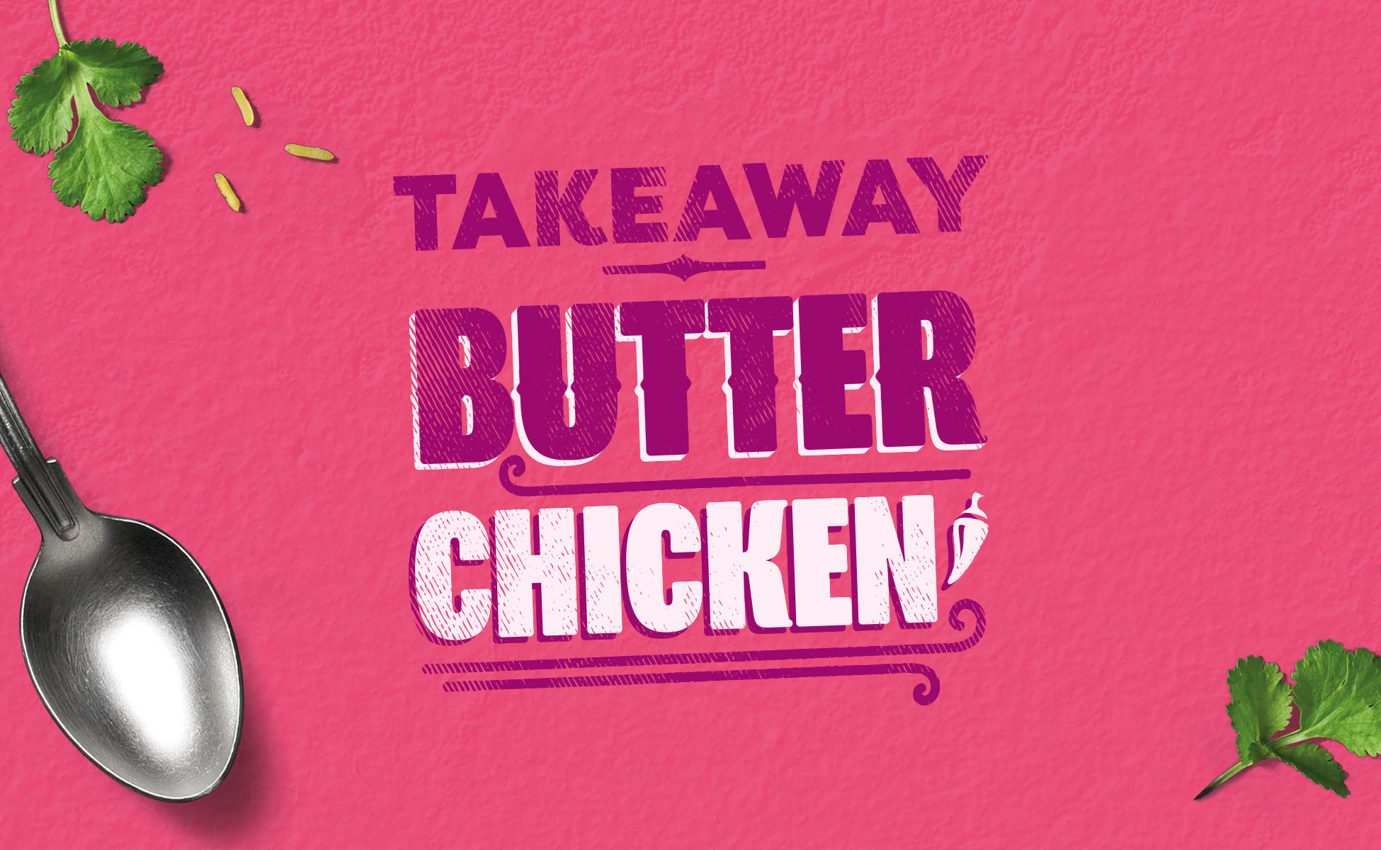 Creative Indian takeaway typography