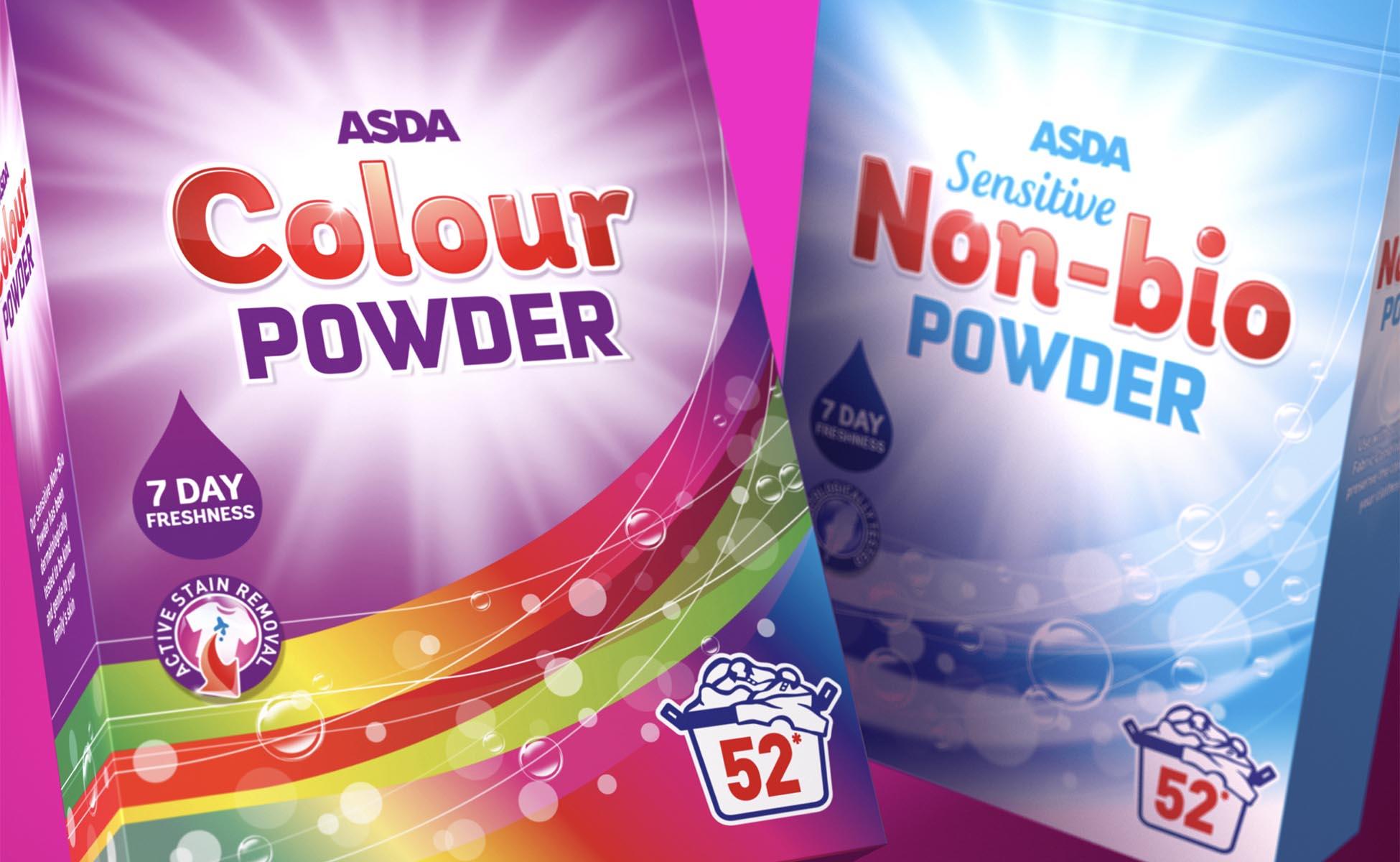 Washing up powder packaging design