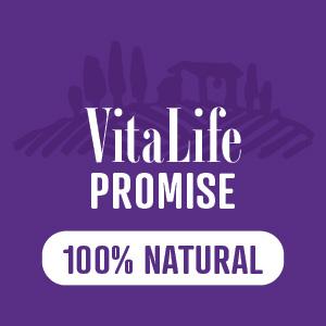 VitaLife Promise symbol in purple