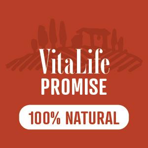 VitaLife Promise symbol in red