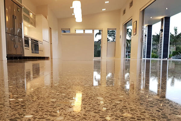 Cream polish concrete finish